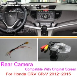 For Honda CRV CR-V 2012~2014 / RCA & Original Screen Compatible / HD Car Rear View Camera Sets / Back Up Reverse Camera