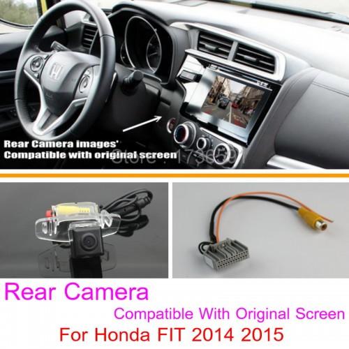 For Honda FIT 2014 2015 / RCA & Original Screen Compatible / Car Rear View Camera Sets / HD Night Vision Back Up Reverse Camera