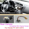 For Honda FIT 2014 2015 / RCA & Original Screen Compatible / Car Rear View Camera Sets / HD Night Vision Back Up Reverse Camera