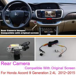 For Honda Accord 9 Generation 2.4L  2012~2015 RCA & Original Screen Compatible / Rear View Camera Sets / Back Up Reverse Camera