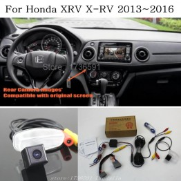 For Honda XRV X-RV 2013~2016 / RCA & Original Screen Compatible / Car Rear View Camera Sets / HD Back Up Reverse Camera