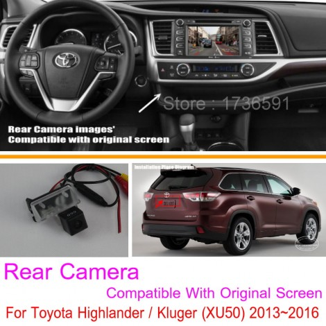 For Toyota Highlander / Kluger (XU50) / RCA & Original Screen Compatible / Car Rear View Camera Sets / HD Back Up Reverse Camera