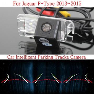 Car Intelligent Parking Tracks Camera FOR Jaguar F-Type 2013~2015 / HD Back up Reverse Camera / Rear View Camera