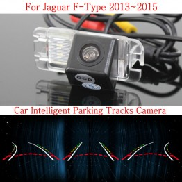 Car Intelligent Parking Tracks Camera FOR Jaguar F-Type 2013~2015 / HD Back up Reverse Camera / Rear View Camera