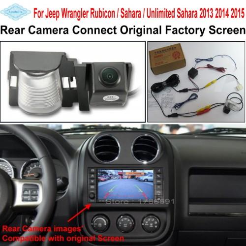 Car Rearview Reverse Camera Connect Original Screen FOR Jeep Wrangler Rubicon / Sahara / Unlimited Sahara RCA Adapter Connector
