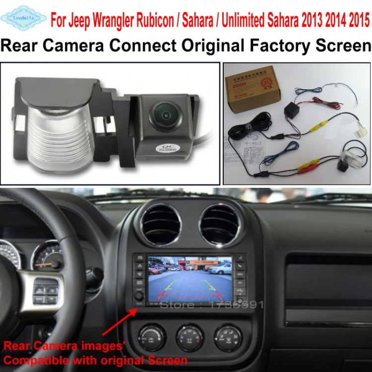 Car Rearview Reverse Camera Connect Original Screen FOR Jeep Wrangler Rubicon \/ Sahara ...
