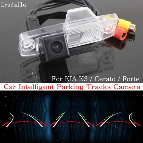 Car Intelligent Parking Tracks Camera FOR KIA K3 / Cerato / Forte 2013~2015 HD CCD Back up Reverse Rear View Camera