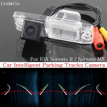 Car Intelligent Parking Tracks Camera FOR KIA Sorento R / Sorento MX 2010~2015 HD CCD Back up Reverse Rear View Camera