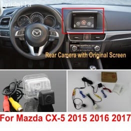 Car Rearview Camera Connect Original Screen FOR Mazda CX5 CX-5 CX 5 2015 2016 2017 Reverse Backup Camera RCA Adapter Connector