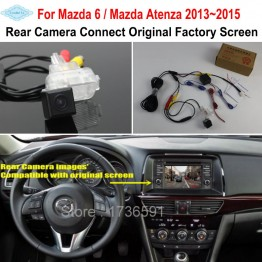 For Mazda 6 Mazda6 / Mazda Atenza 2013~2015 RCA Original Screen Compatible Car Rear View Camera Back Up Reverse Camera