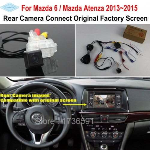 For Mazda 6 Mazda6 / Mazda Atenza 2013~2015 RCA Original Screen Compatible Car Rear View Camera Back Up Reverse Camera