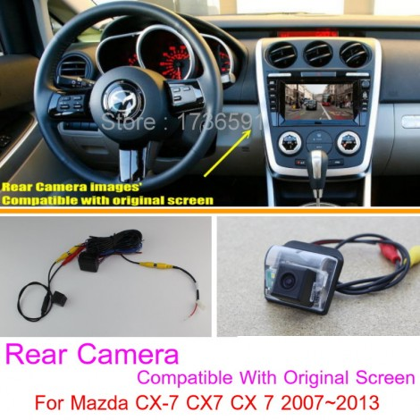 For Mazda CX-7 CX7 CX 7 2007~2013 RCA & Original Screen Compatible Sets / Car Rear View Camera / Back Up Reverse Camera