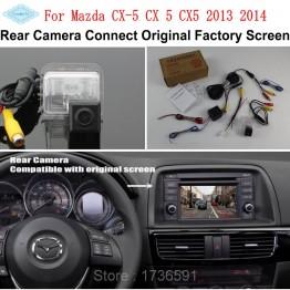 For Mazda CX-5 CX 5 CX5 2013 2014 / RCA & Original Screen Compatible / Car Rear View Camera / HD Back Up Reverse Camera