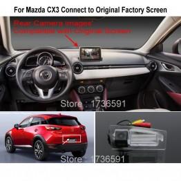 For Mazda CX3 CX-3 CX 3 RCA & Original Screen / Monitor Compatible Rear View Camera High Quality Back Up Reverse Camera