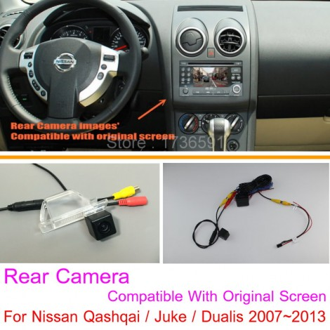 For Nissan Qashqai / Juke / Dualis 2007~2013 RCA & Original Screen Compatible Rear View Camera Back Up Reverse Camera