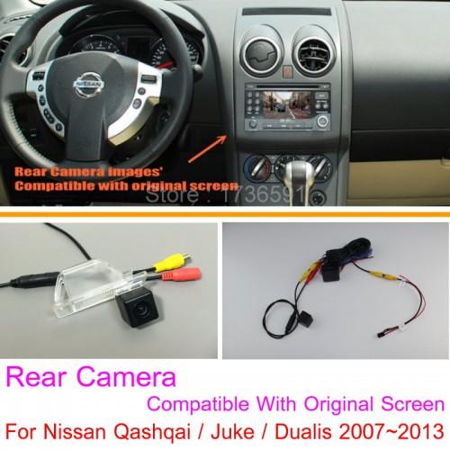 For Nissan Qashqai / Juke / Dualis 2007~2013 RCA & Original Screen Compatible Rear View Camera Back Up Reverse Camera