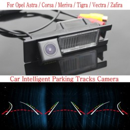 Car Intelligent Parking Tracks Camera FOR Opel Astra Corsa Meriva Tigra Vectra Zafira / Reverse Camera Rear View Camera