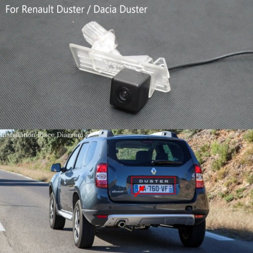 FOR Renault Duster / Dacia Duster / Reversing Rear View Camera / HD Back up Camera / License Plate Light Installation