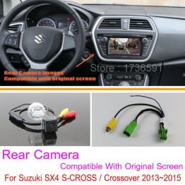 For Suzuki SX4 S-CROSS / Crossover / RCA & Original Screen Compatible / Car Rear View Camera Sets / HD Back Up Reverse Camera