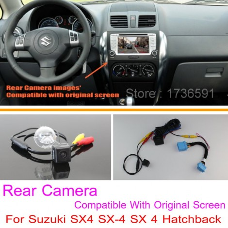 For Suzuki SX4 SX-4 SX 4 Hatchback / RCA & Original Screen Compatible / Car Rear View Camera Sets / HD Back Up Reverse Camera