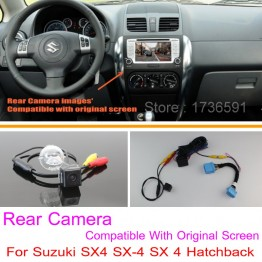 For Suzuki SX4 SX-4 SX 4 Hatchback / RCA & Original Screen Compatible / Car Rear View Camera Sets / HD Back Up Reverse Camera