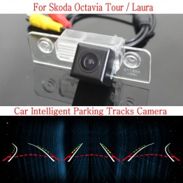 Car Intelligent Parking Tracks Camera FOR Skoda Octavia Tour / Laura / HD Back up Reverse Camera / Rear View Camera