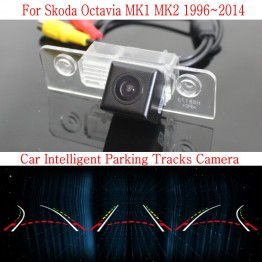 Car Intelligent Parking Tracks Camera FOR Skoda Octavia MK1 MK2 1996~2014 HD Back up Reverse Camera / Rear View Camera