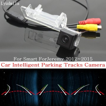 Car Intelligent Parking Tracks Camera FOR Smart ForJeremy 2012~2015 / HD CCD Back up Reverse Camera / Rear View Camera