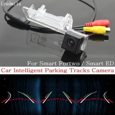 Car Intelligent Parking Tracks Camera FOR Smart Fortwo / Smart ED / HD CCD Back up Reverse Camera / Rear View Camera