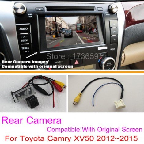 For Toyota Camry XV50 2012~2016 RCA Original Screen Compatible / Car Rear View Camera Sets / HD Back Up Reverse Camera