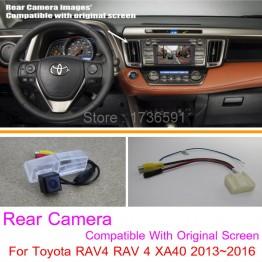 For Toyota RAV4 RAV 4 XA40 2013~2016 / RCA & Original Screen Compatible / Car Rear View Camera Sets / HD Reverse Camera