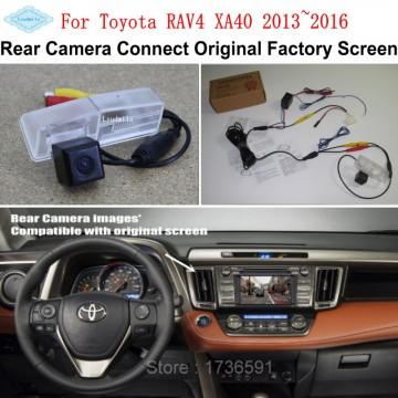 Car Rearview Camera Connect Original Screen FOR Toyota RAV4 XA40 2013~2016 Reverse Backup Camera RCA Adapter Connector