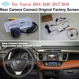 Car Rearview Camera Connect Original Screen FOR Toyota RAV4 XA40 2013~2016 Reverse Backup Camera RCA Adapter Connector
