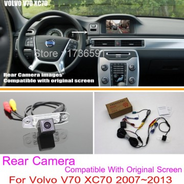 For Volvo V70 XC70 2007~2013 / RCA & Original Screen Compatible / Car Rear View Camera Sets / HD Back Up Reverse Camera