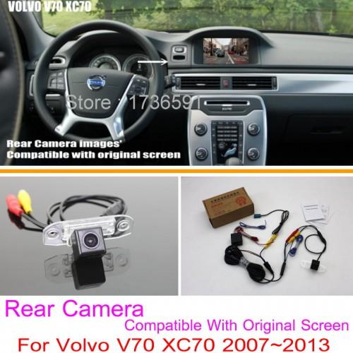 For Volvo V70 XC70 2007~2013 / RCA & Original Screen Compatible / Car Rear View Camera Sets / HD Back Up Reverse Camera