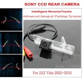 Car Intelligent Parking Tracks Camera FOR ZAZ Vida 2002~2010 / HD Back up Reverse Camera / Rear View Camera