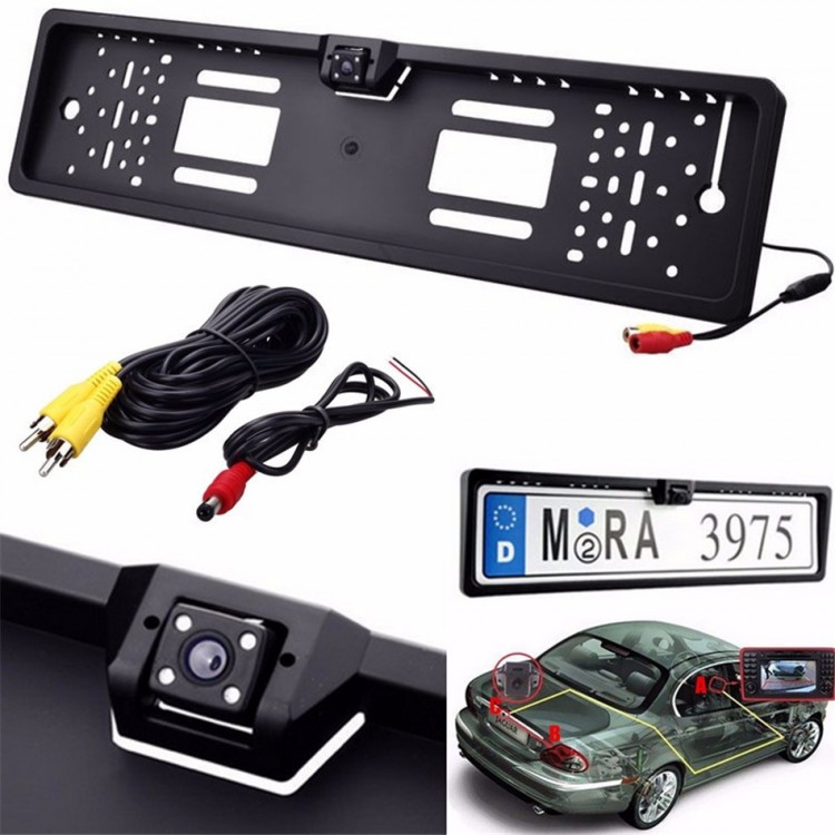 Universal Waterproof Europe License Plate Frame with 170 degree Wide ...