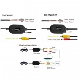 2.4G Wireless RCA Color Video Transmitter Receiver Kit Backup Camera | Reverse-cameras