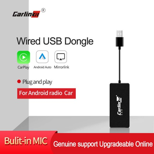 Carlinkit USB Apple Carplay Dongle /Android Auto for Android car with iOS 13 Carplay System and MIC Support Mirror-link