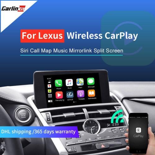 Lexus NX ES US iS CT RX GS LS LX LC RC 2014-2019 Multimedia interface CarPlay & Android Auto Carlinkit Wireless CarPlay
