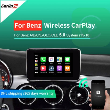 Wireless Apple Carplay/Andorid For Mercedes NTG5.0 2015-2017 Support Reverse CameraMaps