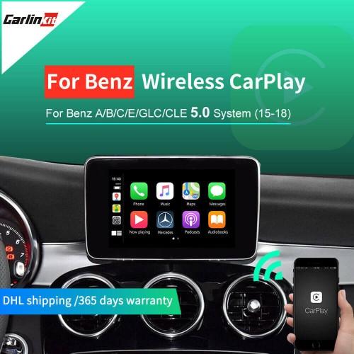 Wireless Apple Carplay/Andorid For Mercedes NTG5.0 2015-2017 Support Reverse CameraMaps