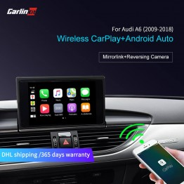 For Audi A6 2009-2018 Wireless CarPlay Android Auto
