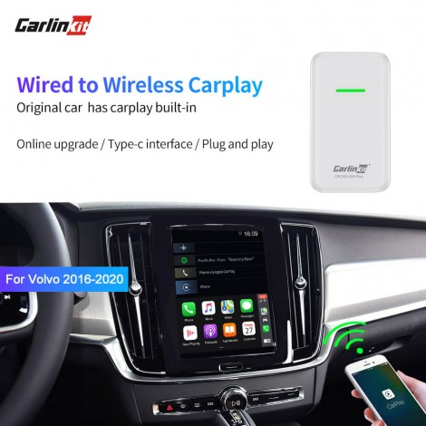 Volvo XC90 S90 V90 XC60 V60 Wired to Wireless Auto Connect CarPlay