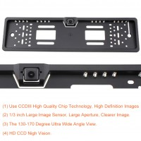 European Car License Plate Rear View/Backup Camera | RCS
