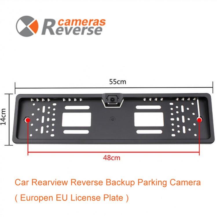 European Car License Plate Rear View/Backup Camera   RCS