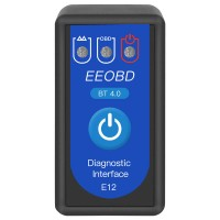 E12 EEOBD BT4.0 Bluetooth car diagnostic instrument OBD2 car detector ELM327OBDII