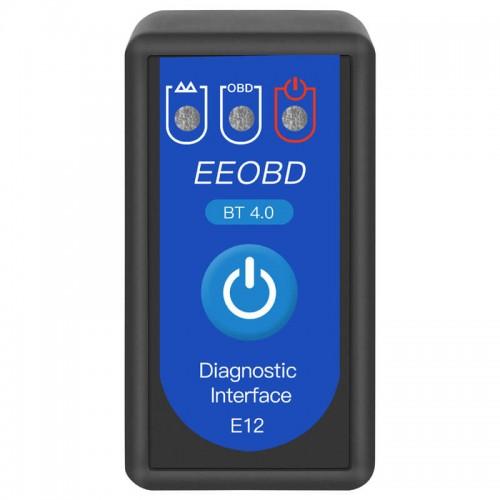 E12 EEOBD BT4.0 Bluetooth car diagnostic instrument OBD2 car detector ELM327OBDII