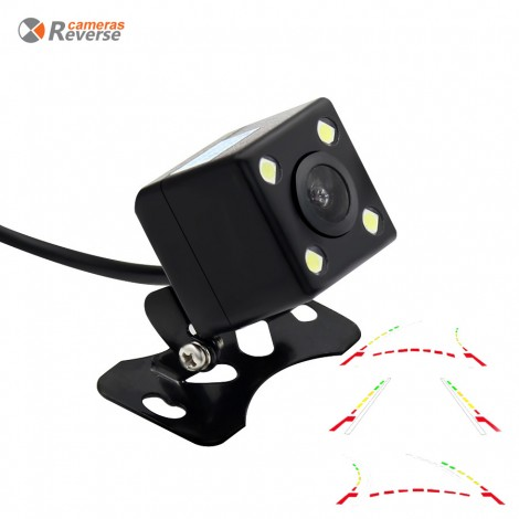 Intelligent Dynamic Trajectory Tracks Rear View Camera HD CCD Reverse Backup Camera Auto Reversing Parking Assistance170